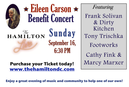Eileen Carson Benefit w/Frank Solivan & Dirty Kitchen, Tony Trishka, and Footworks @ The Hamilton DC | Washington | District of Columbia | United States