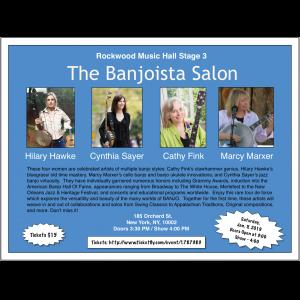 Banjoista Salon with Hilary Hawke and Cynthia Sayer @ Rockwood Music Hall Stage 3  | New York | New York | United States