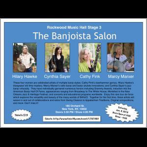 Banjoista Salon with Hilary Hawke and Cynthia Sayer @ Rockwood Music Hall Stage 3  | New York | New York | United States