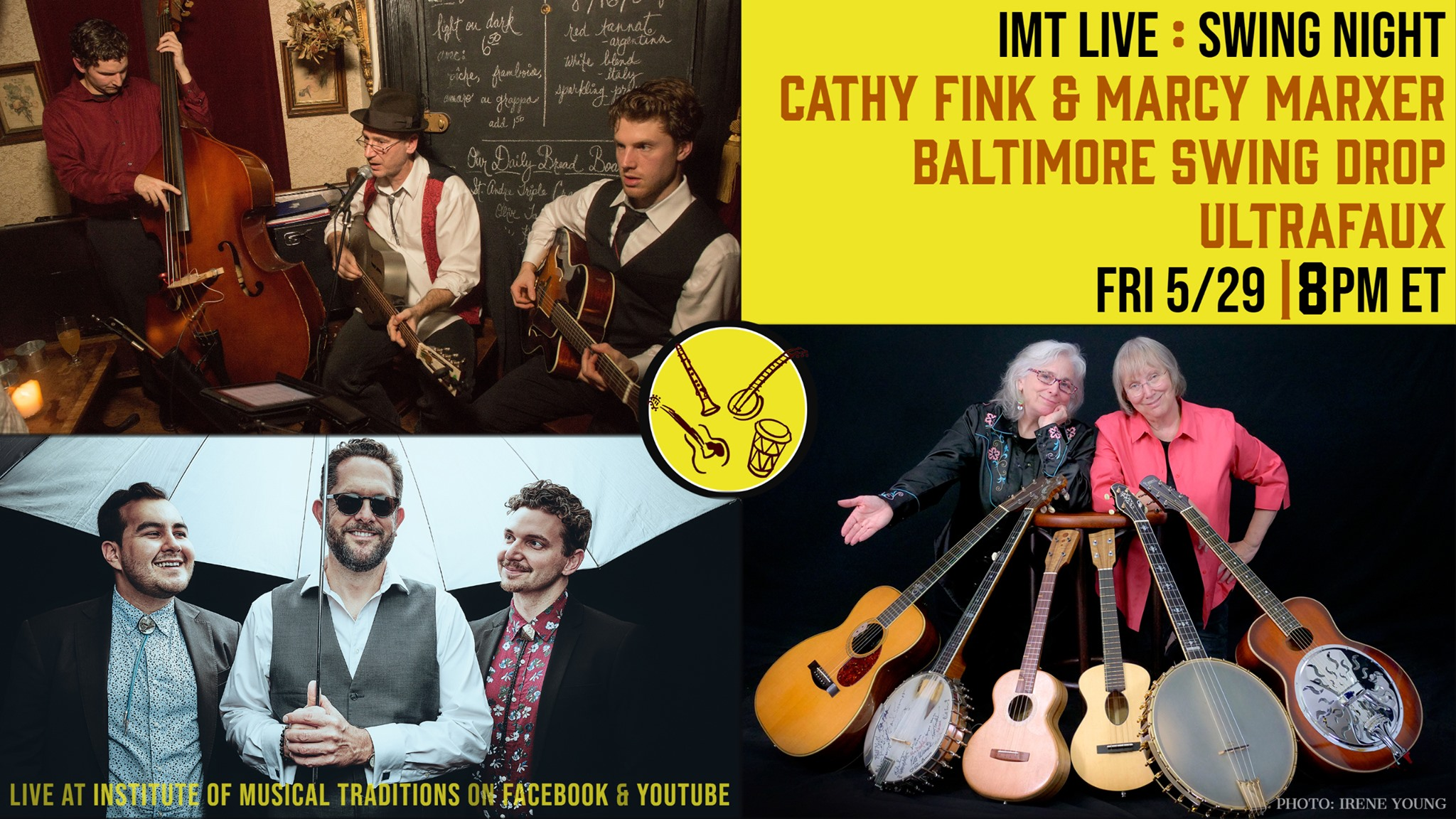 IMT Live: Cathy Fink & Marcy Marxer, Ultrafaux & Baltimore Swing Drop