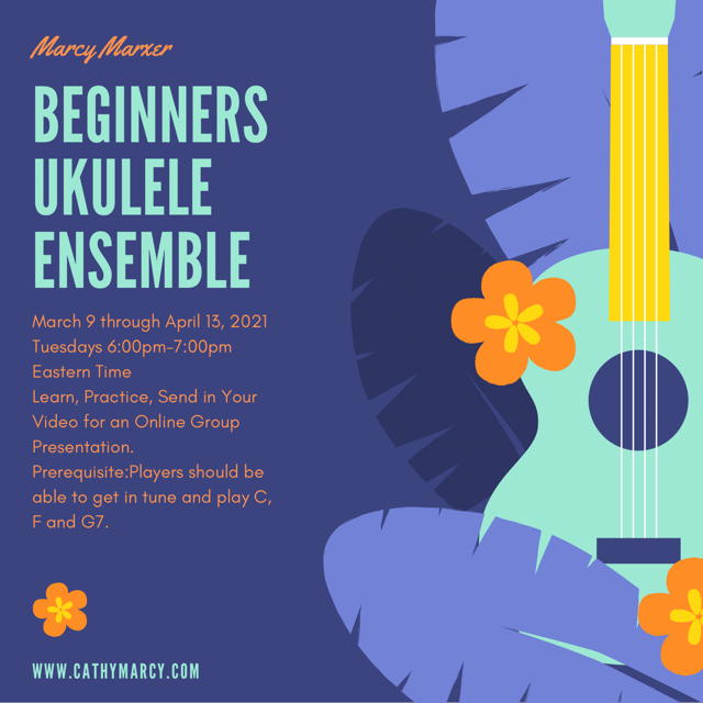 Beginner Ukulele Ensemble @ ZOOM ONLINE